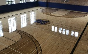 80 Year Old Gym Floor Replaced at Hamilton College